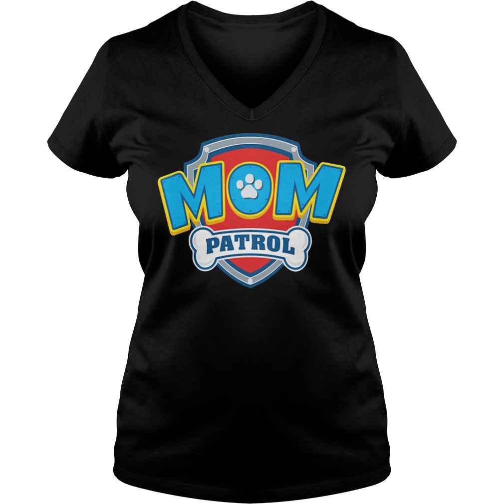 Dog Mom Patrol V Neck
