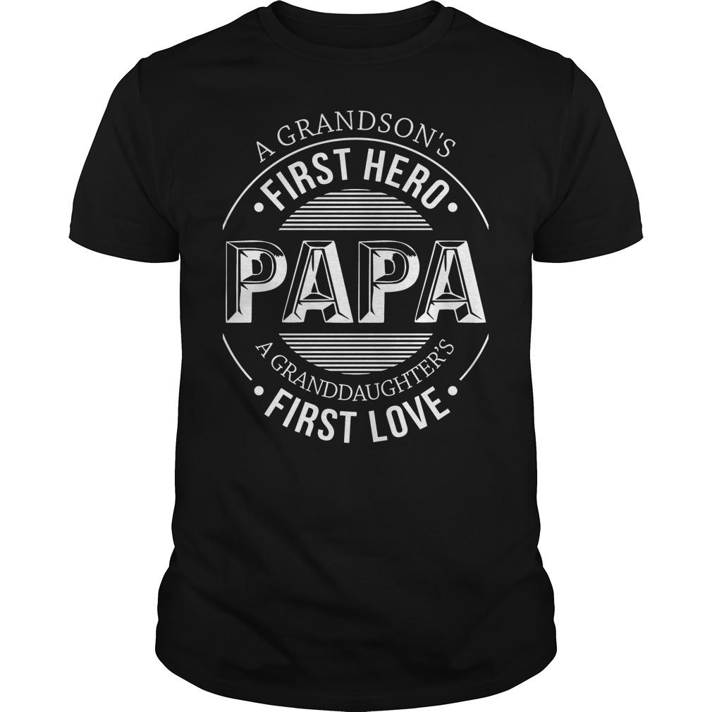 A Grandson's First Hero, First Love Shirt
