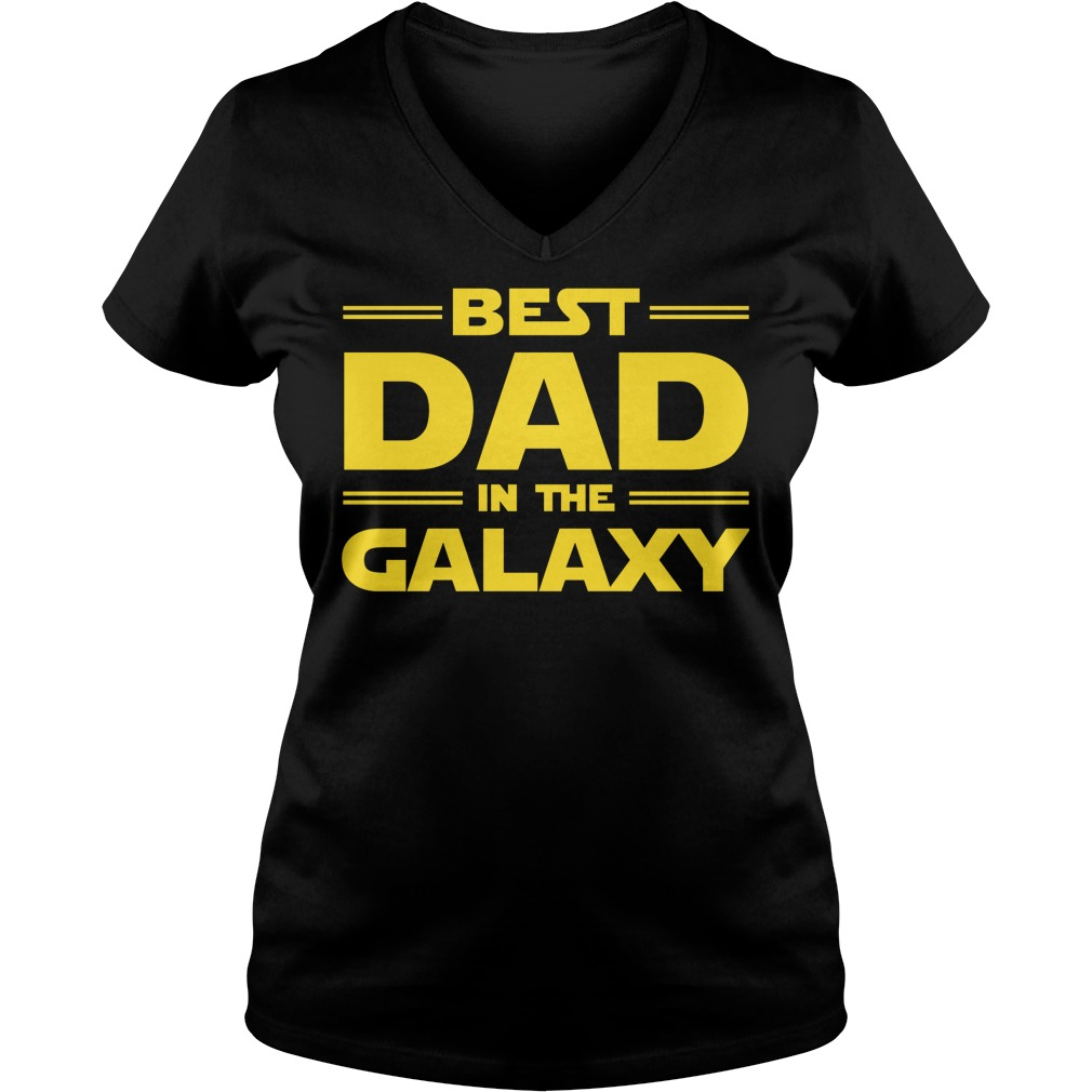 Best Dad In The Galaxy V Neck