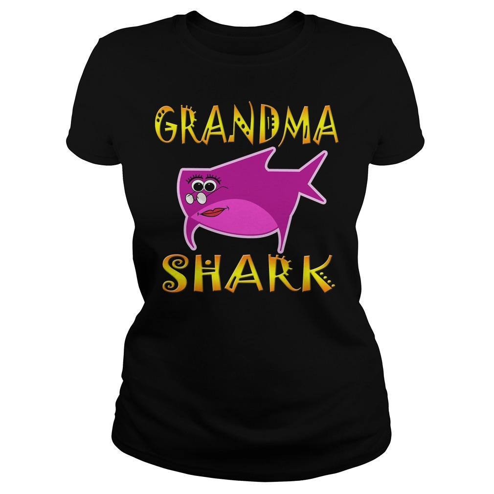 Grandma Shark Ladies Tee