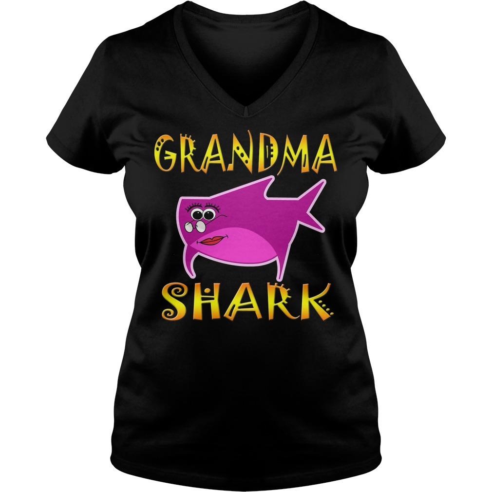 Grandma Shark V Neck