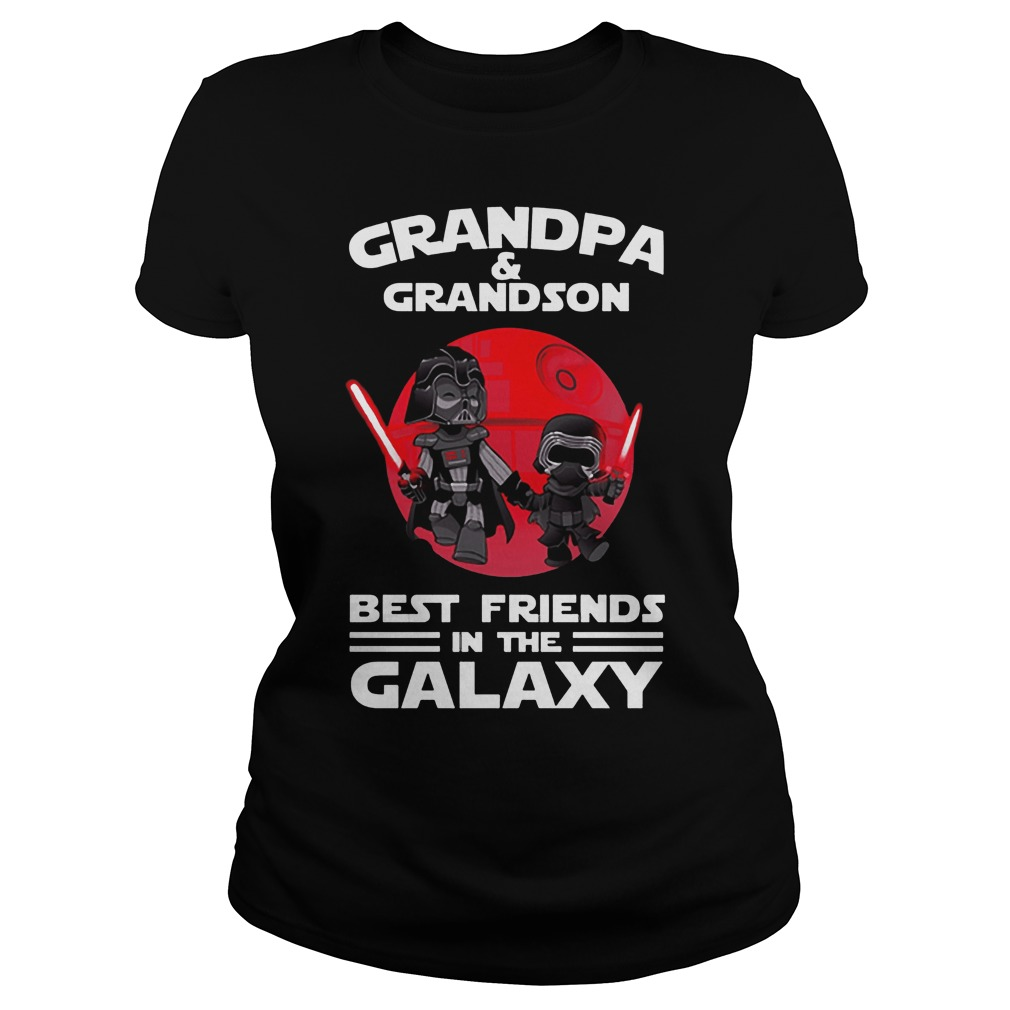 Star Wars Grandpa & Grandson Best Friends In The Galaxy Ladies Tee