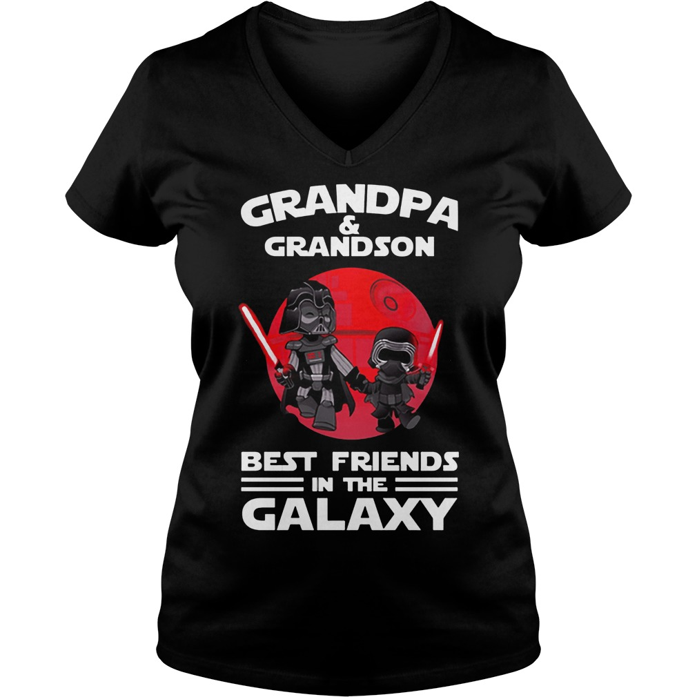 Star Wars Grandpa & Grandson Best Friends In The Galaxy V Neck