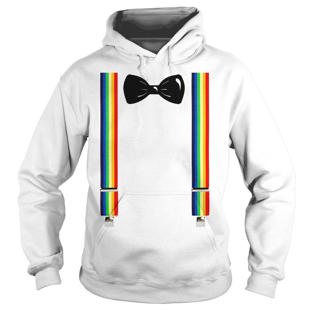 Clown Rainbow Suspenders Bow Tie Hoodie