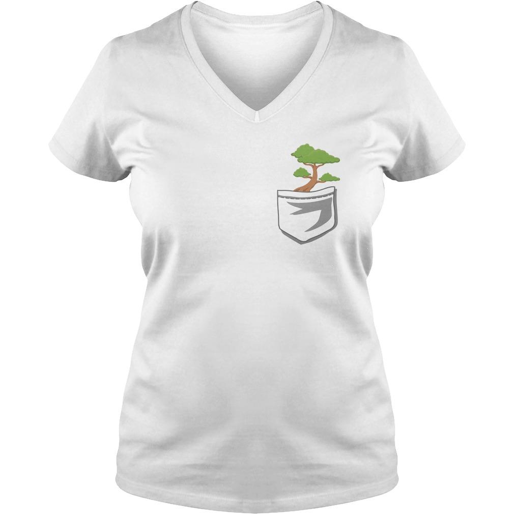 Cute Bonsai Tree In Your Pocket V Neck