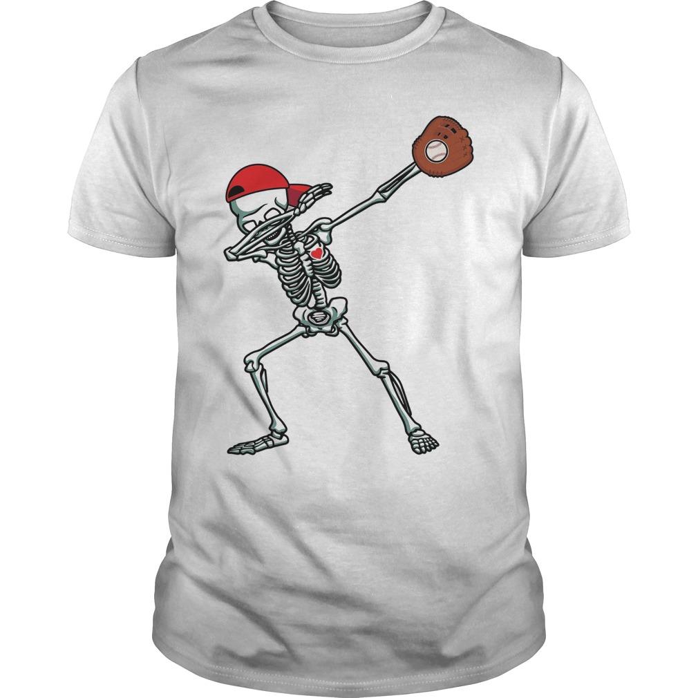 Dabbing Skeleton Baseball Shirt