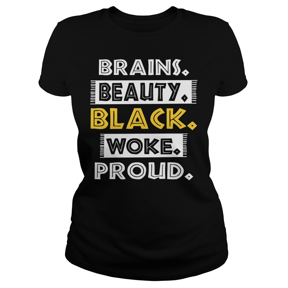 Dashiki Black History Brains Beauty Black Woke Proud Ladies