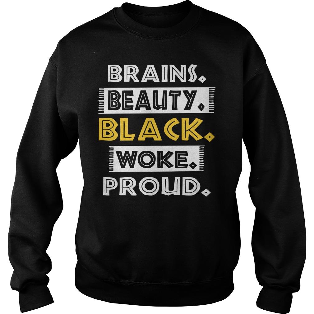 Dashiki Black History Brains Beauty Black Woke Proud Sweater
