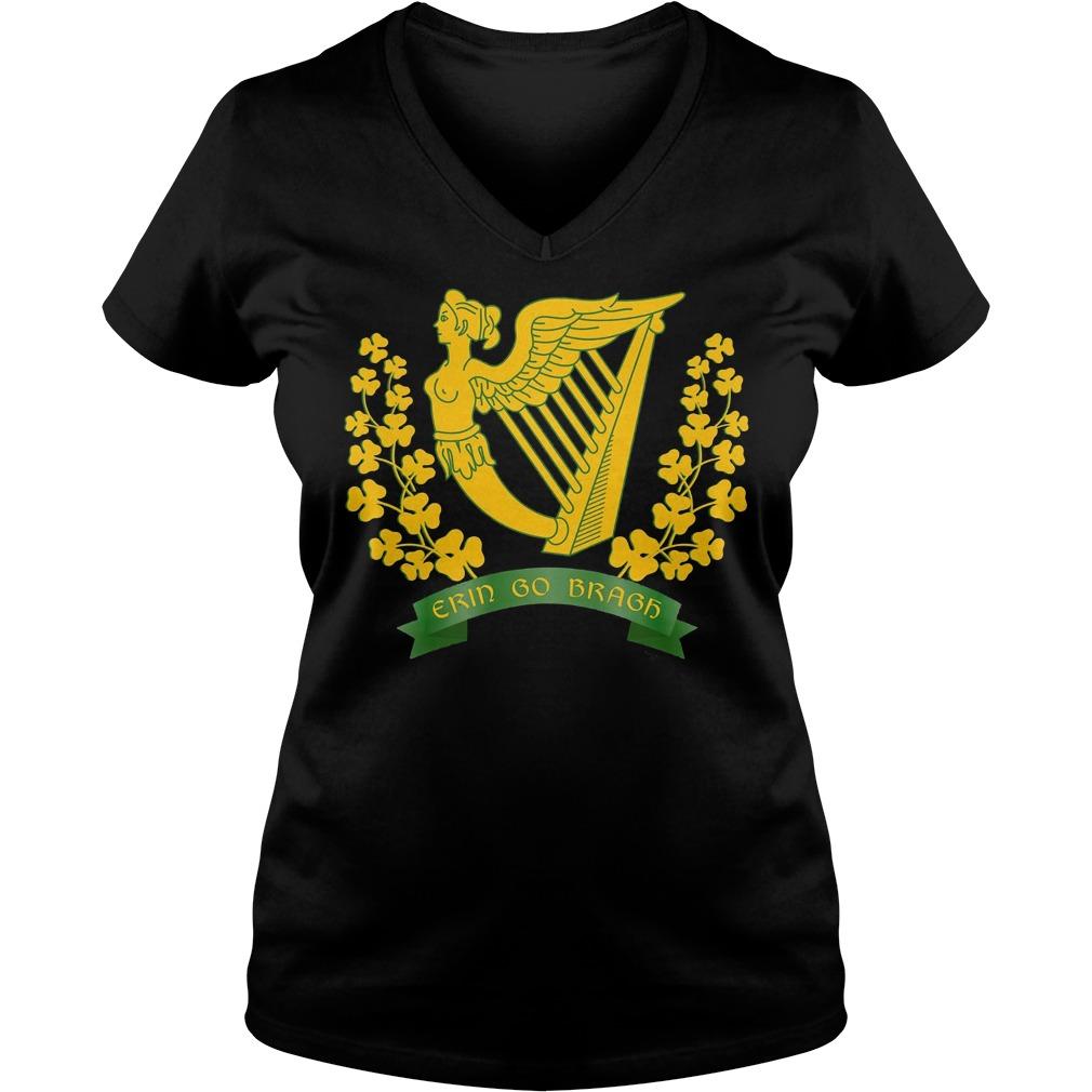 Erin Go Bragh Shirt Ireland Forever Irish Pride V Neck