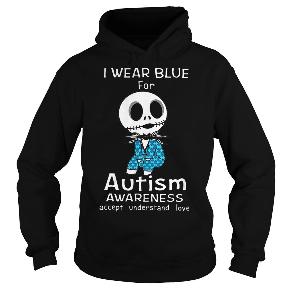 Jack Skellington I Wear Blue For Autism Hoodie