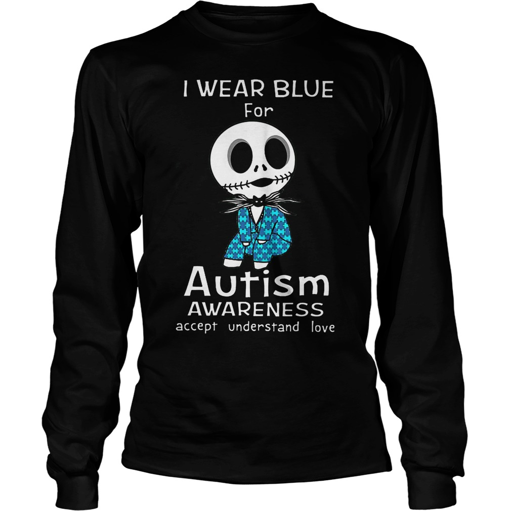Jack Skellington I Wear Blue For Autism Longsleeve
