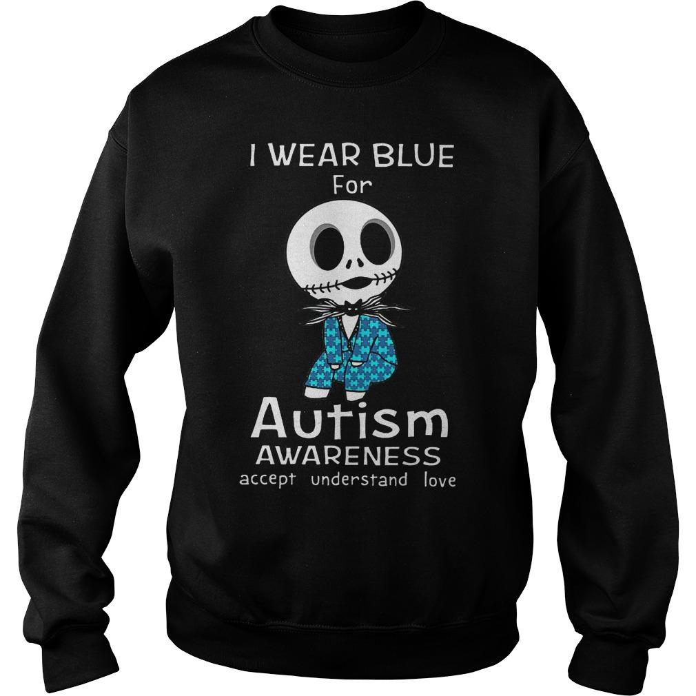 Jack Skellington I Wear Blue For Autism Sweater