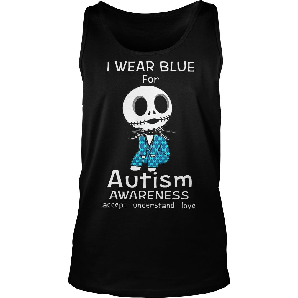 Jack Skellington I Wear Blue For Autism Tanktop
