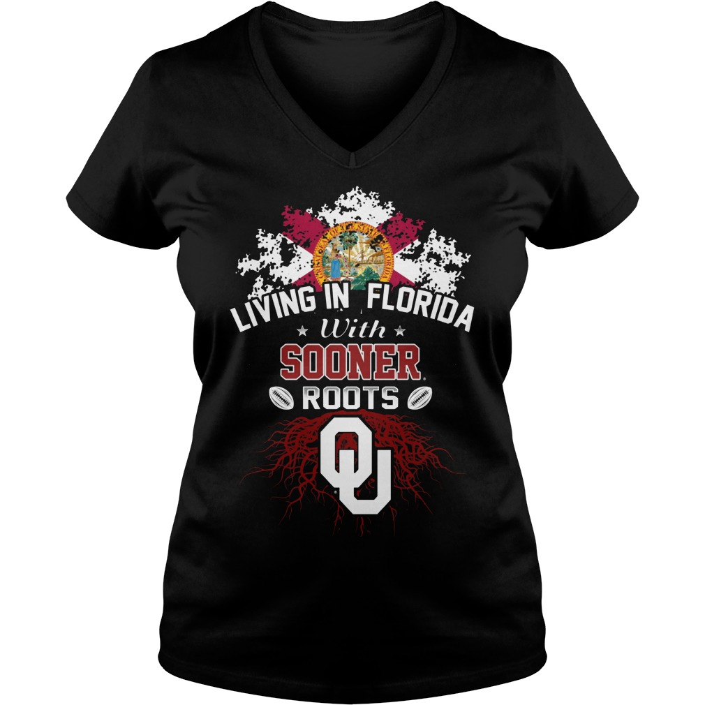 Living In Florida With Sooners Roots V Neck