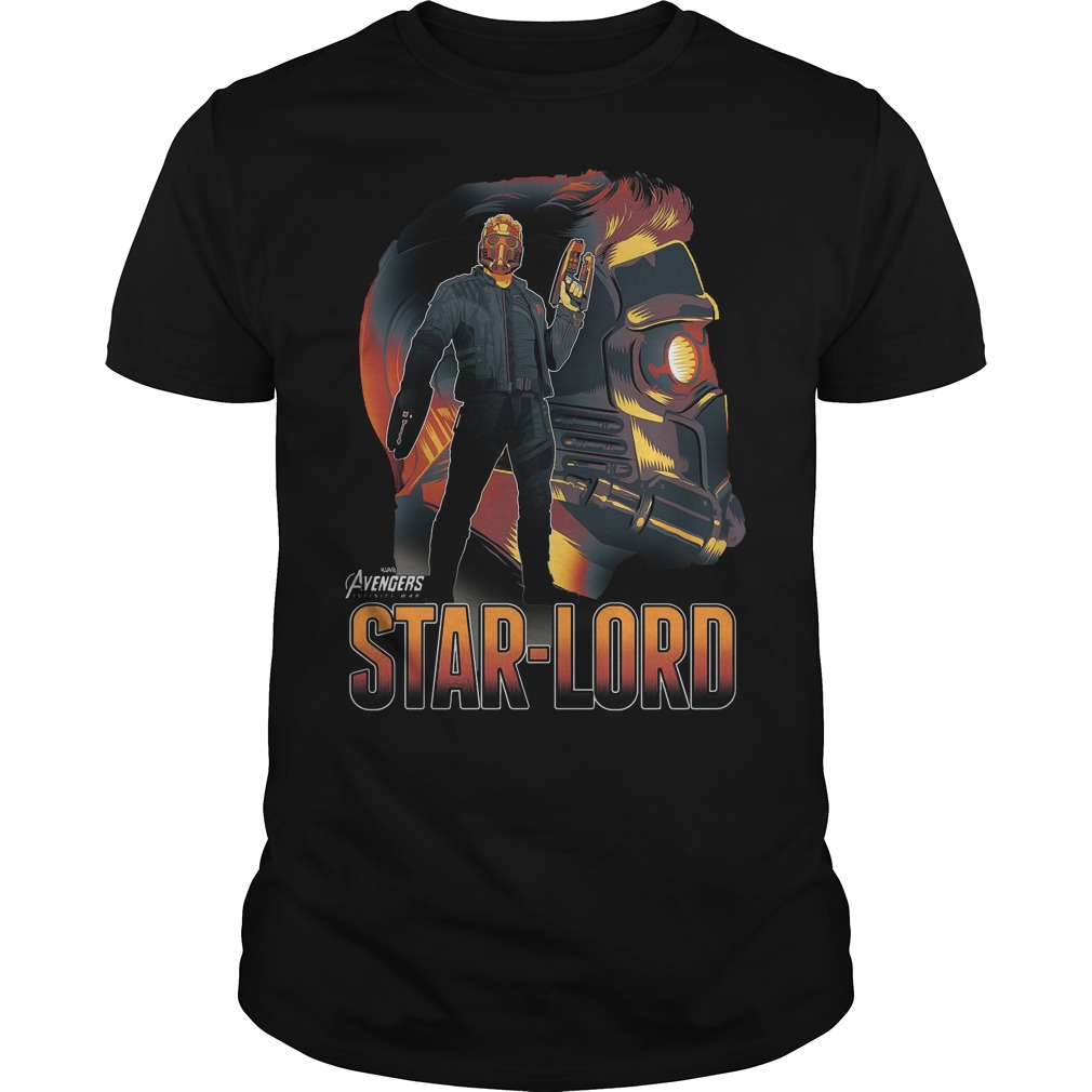 Marvel Infinity War Starlord Head Profile Shirt