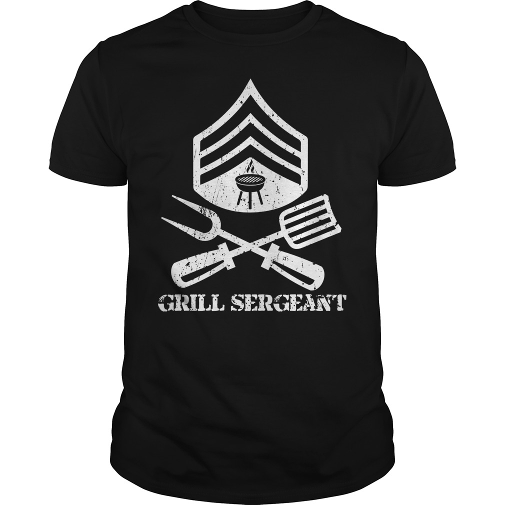 Mens Grill Sergeant Bbq Grilling Hobby Fathers Day Shirt