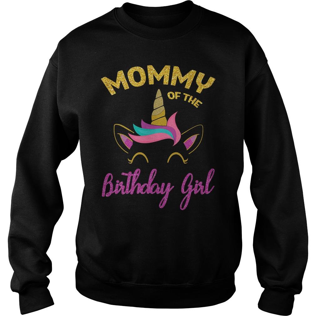 Mommy Of The Unicorn Birthday Girl Sweater