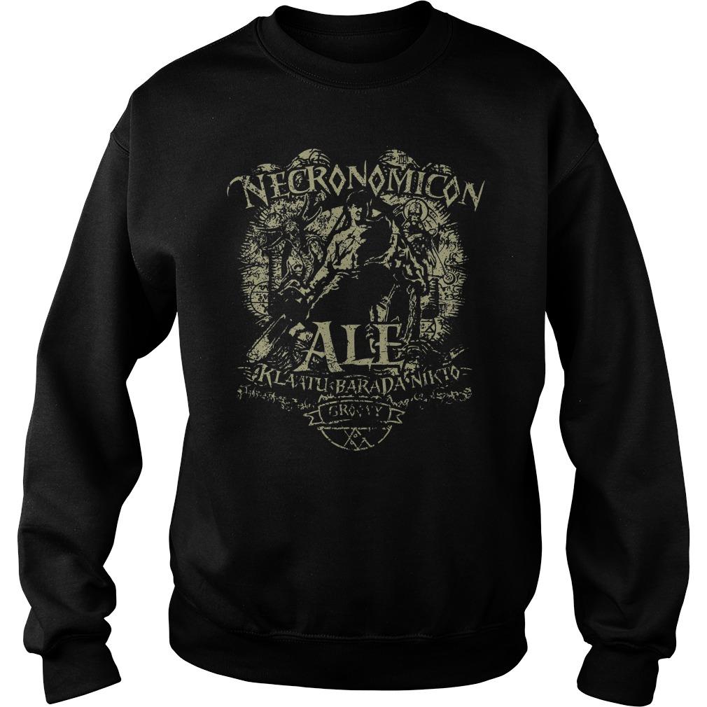 Necronomicon Ale Klaatu Barada Nikto Groovy Sweater