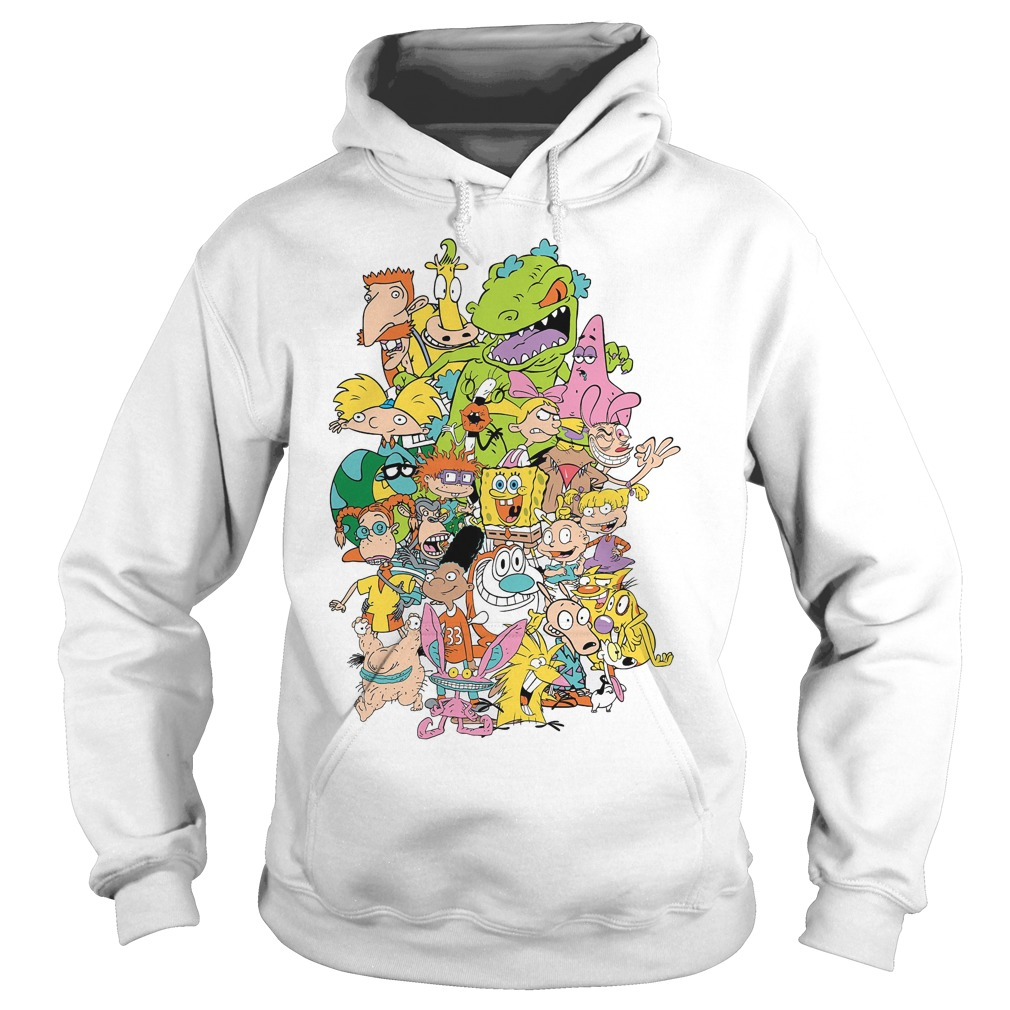 Nickelodeon Complete Nick 90s Throwback Character Hoodie