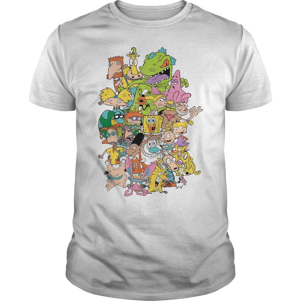 Nickelodeon Complete Nick 90s Throwback Character Shirt