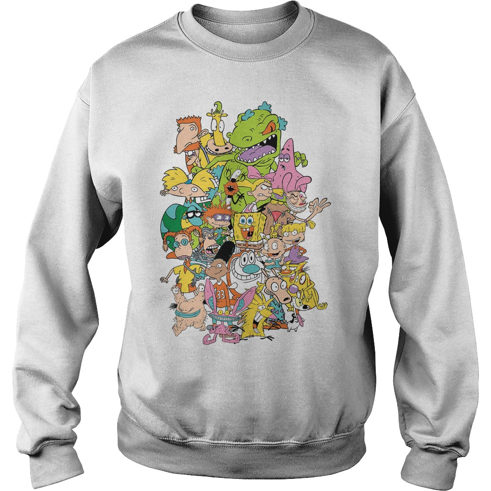Nickelodeon Complete Nick 90s Throwback Character Sweater