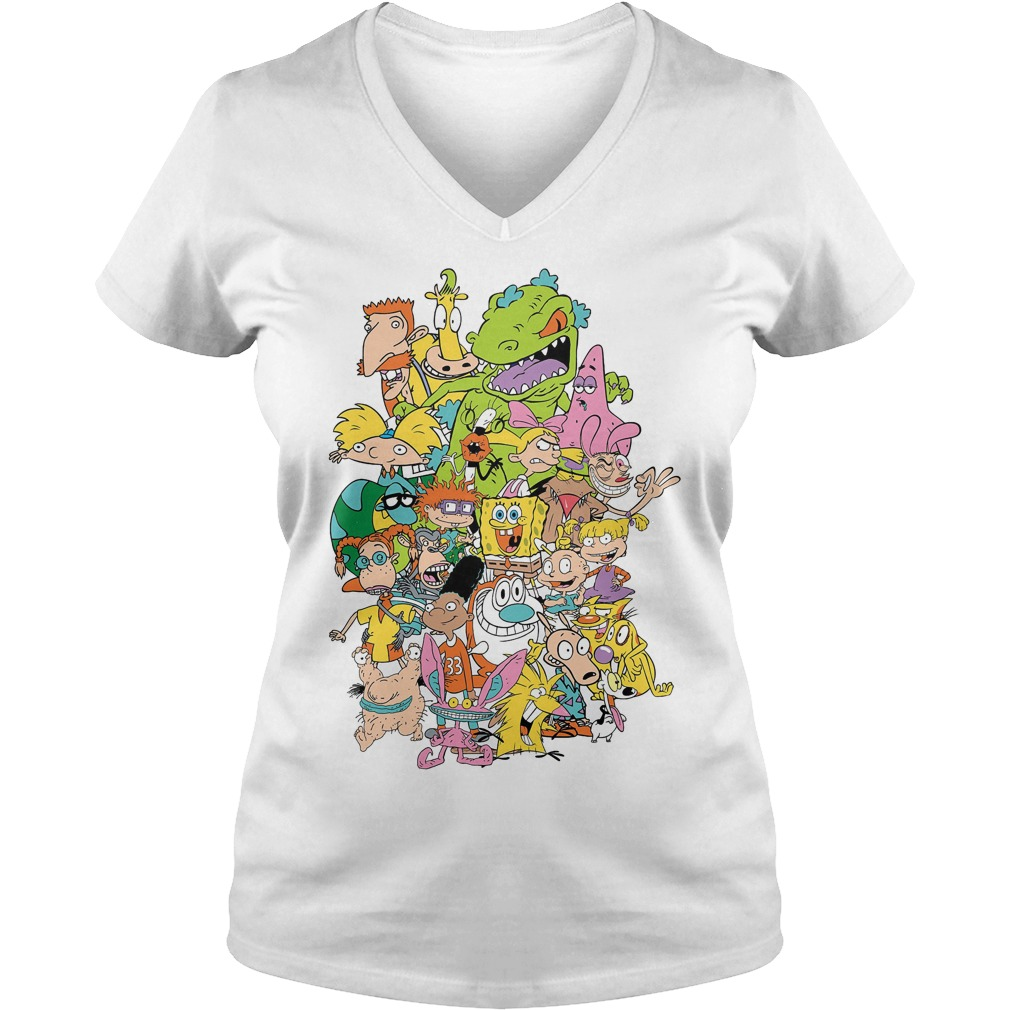 Nickelodeon Complete Nick 90s Throwback Character V Neck