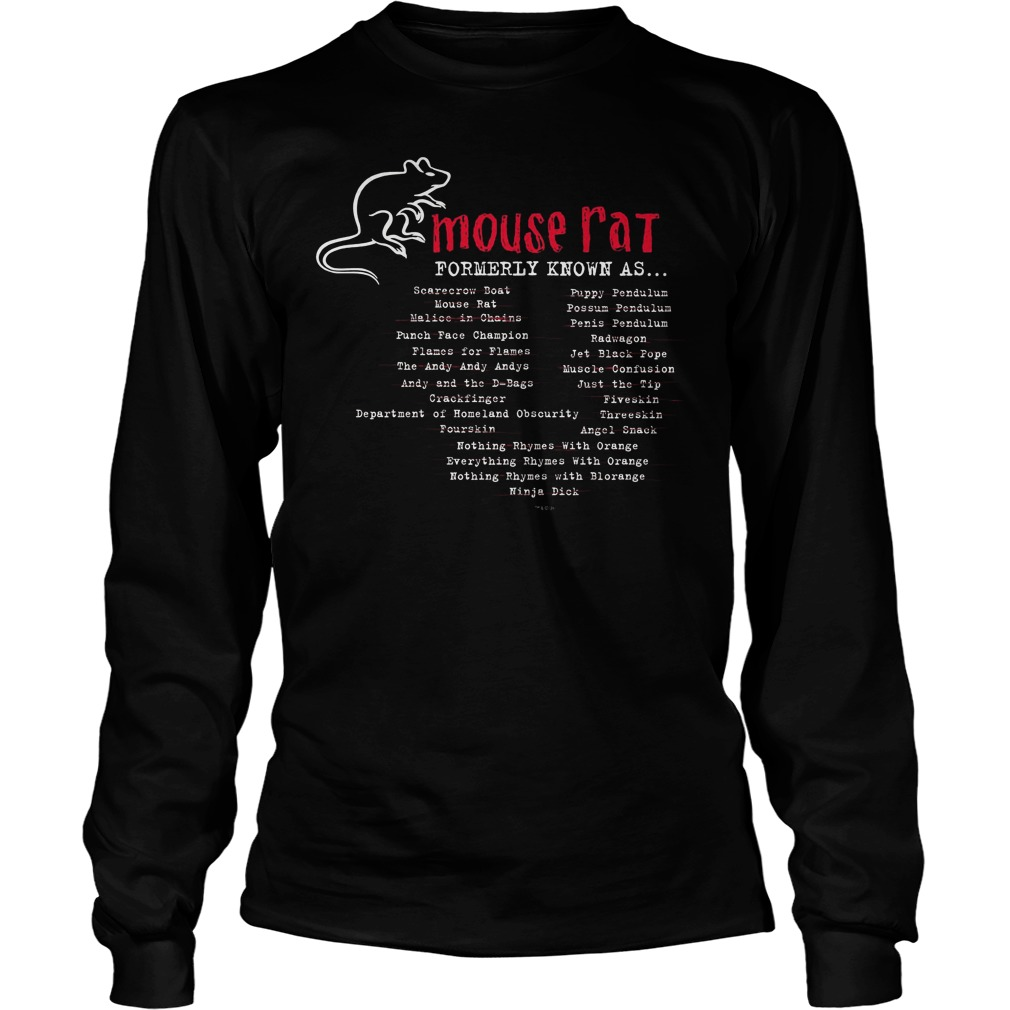 Parks And Recreation Mouse Rat Formerly Known As Longsleeve