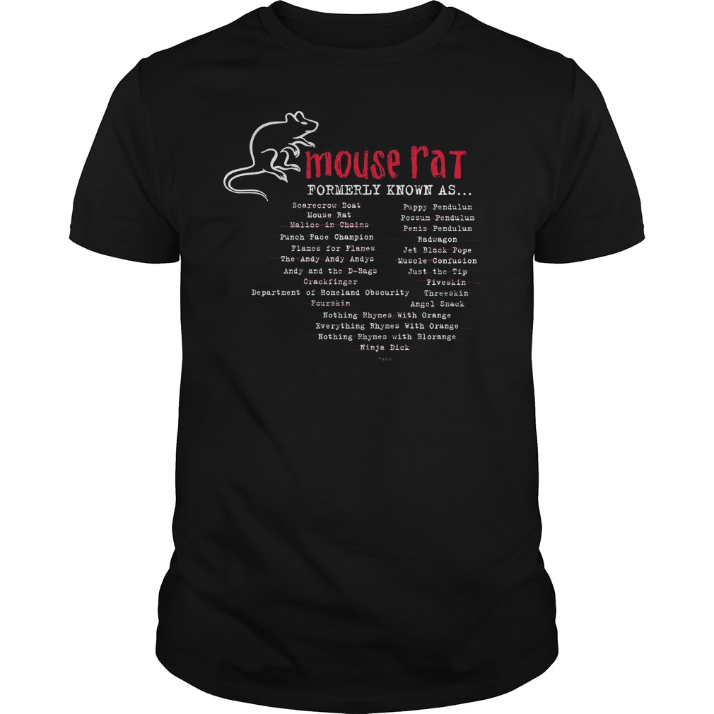Parks And Recreation Mouse Rat Formerly Known As Shirt