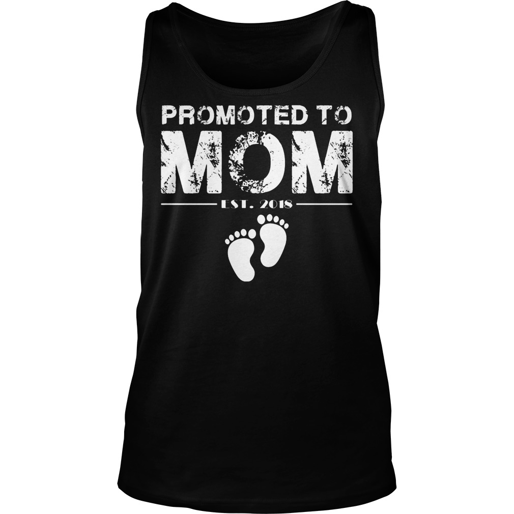 Promoted To Mom Est 2018 Tanktop