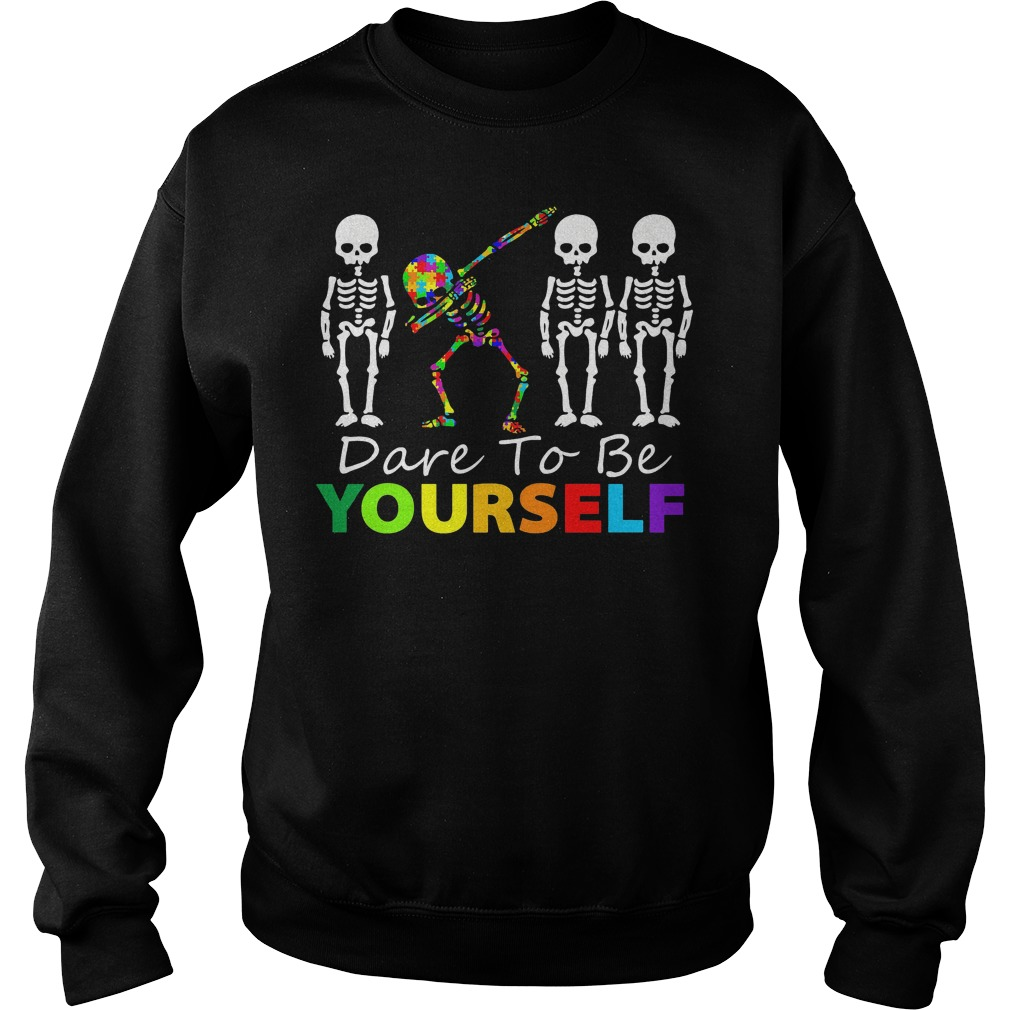 Skeleton Dabbing Dare To Be Yourself Sweater