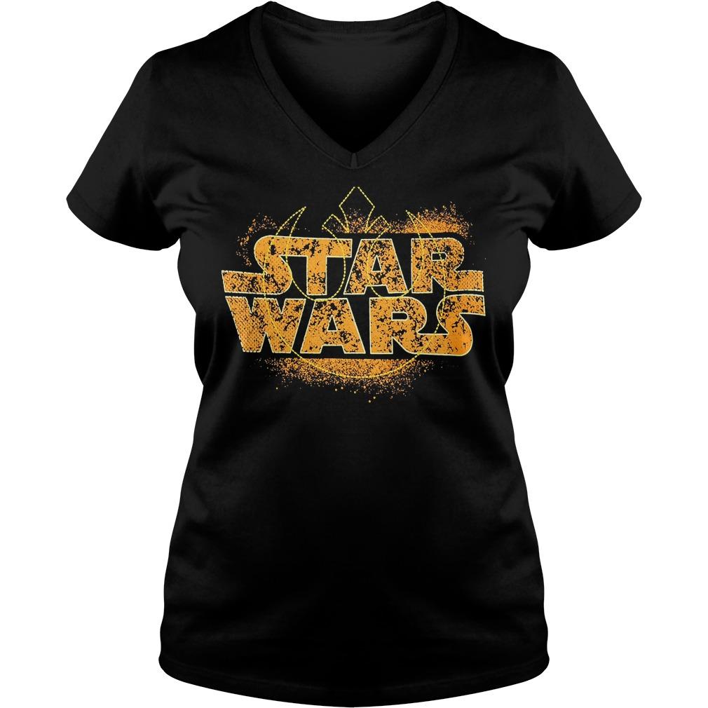 Star Wars Logo Ringer V Neck