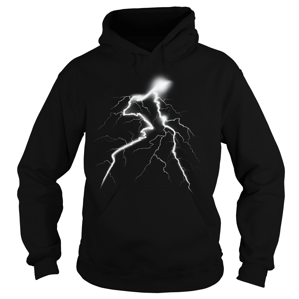 Thunder Lightning Bolt Storm Strikes Glow Hoodie