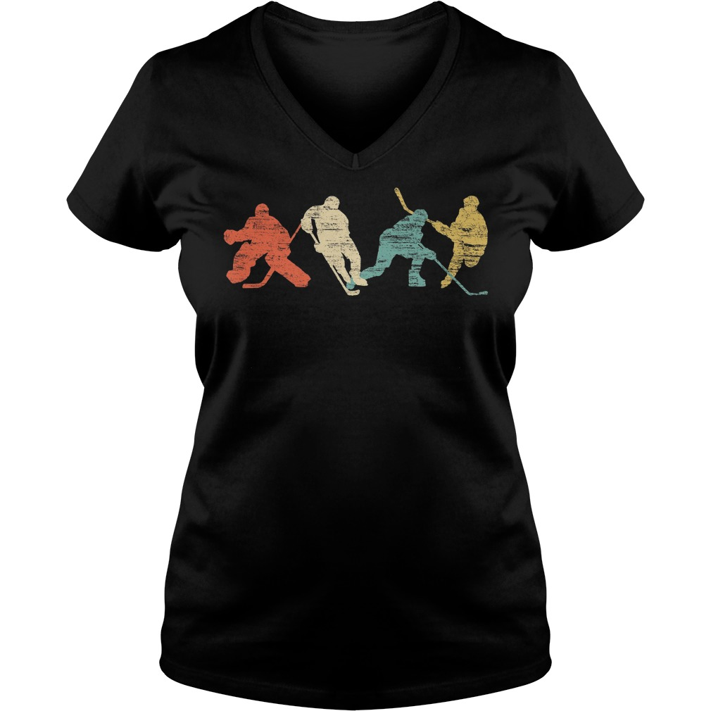 Vintage Style Ice Hockey V Neck