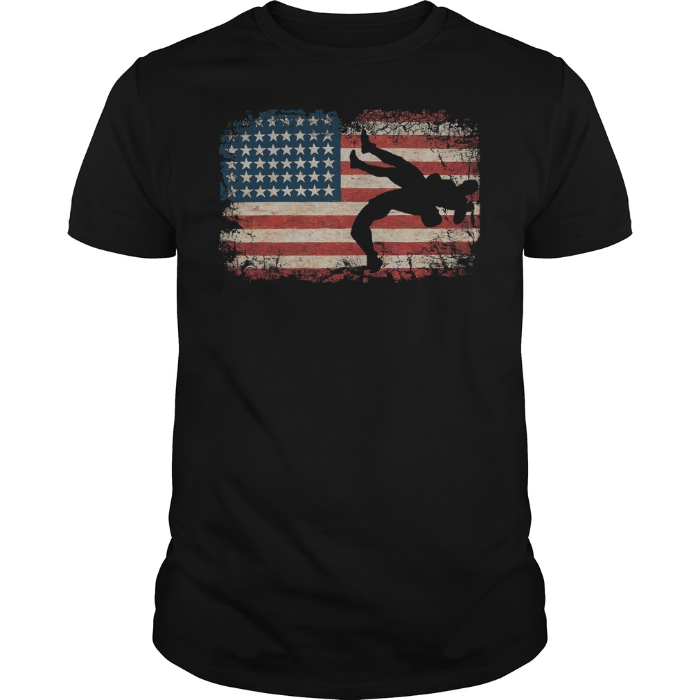 Wrestling American Flag Shirt