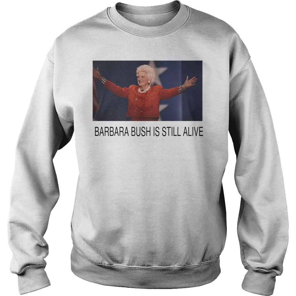 Former First Lady Barbara Bush Is Still Alive Sweater