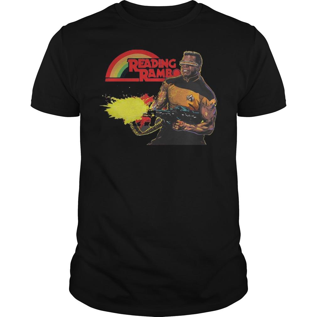Geordi La Forge Reading Rainbow Shirt