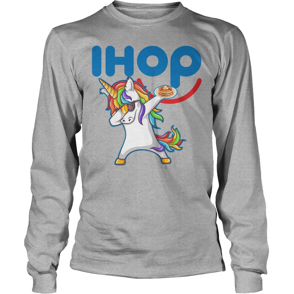 Ihop Unicorn Dabbing With Cake Longsleeve