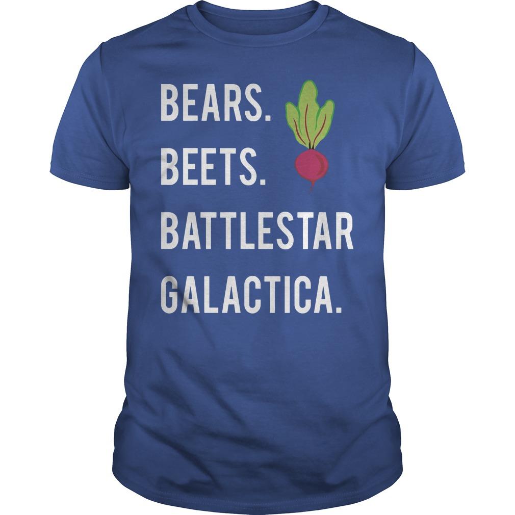 Jim Halpert Bears Beets Battlestar Galactica Shirt