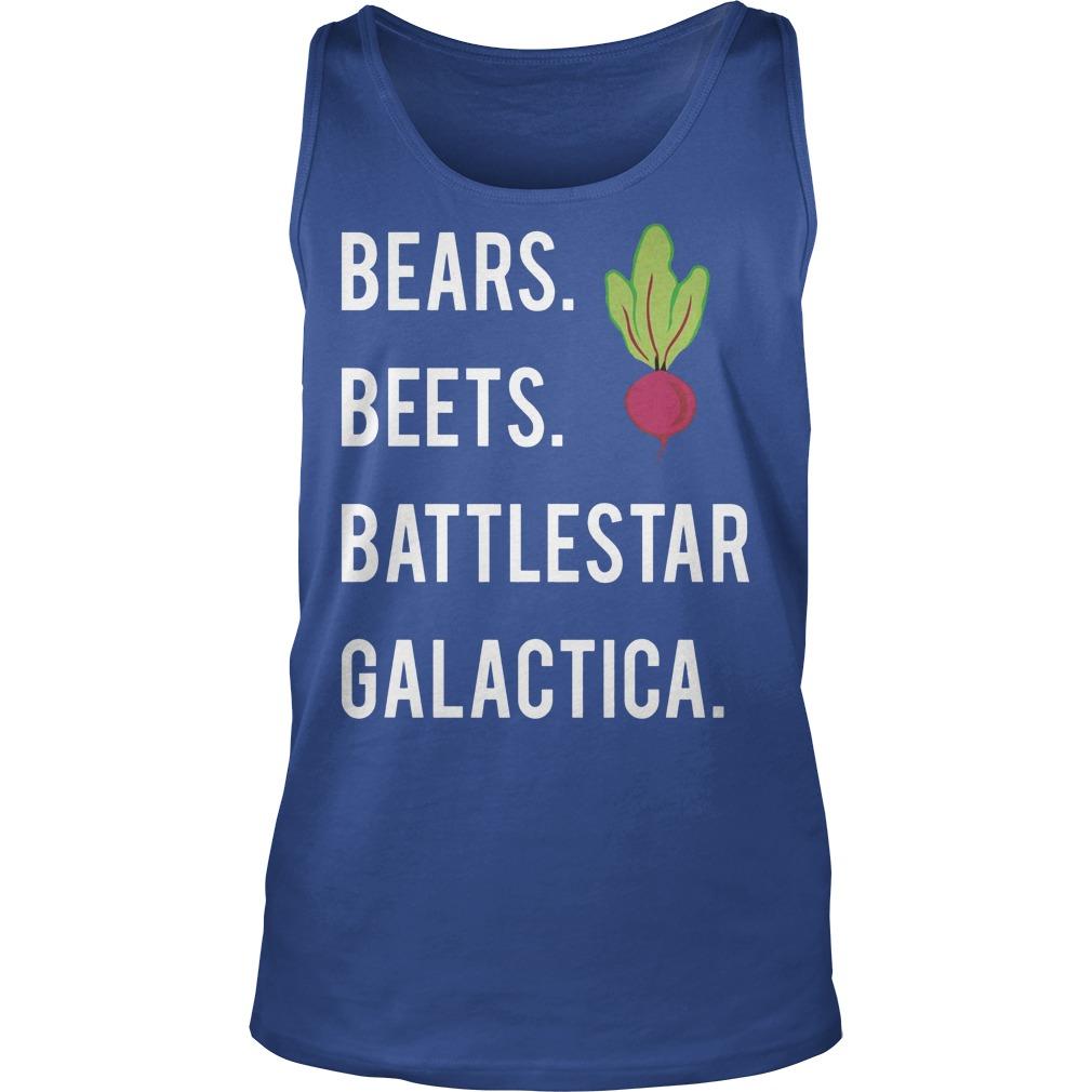 Jim Halpert Bears Beets Battlestar Galactica Tanktop