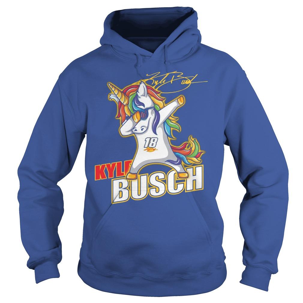 Kyle Busch Unicorn Dabbing Hoodie
