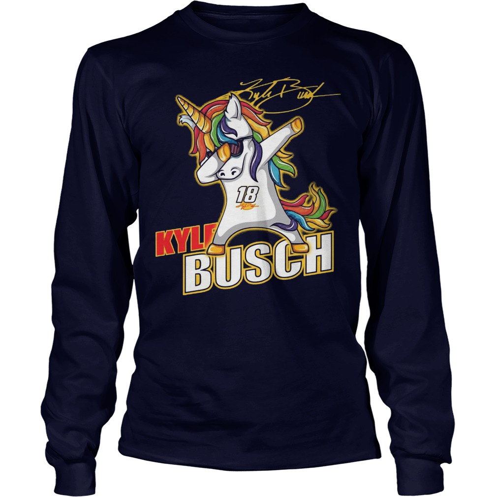 Kyle Busch Unicorn Dabbing Longsleeve