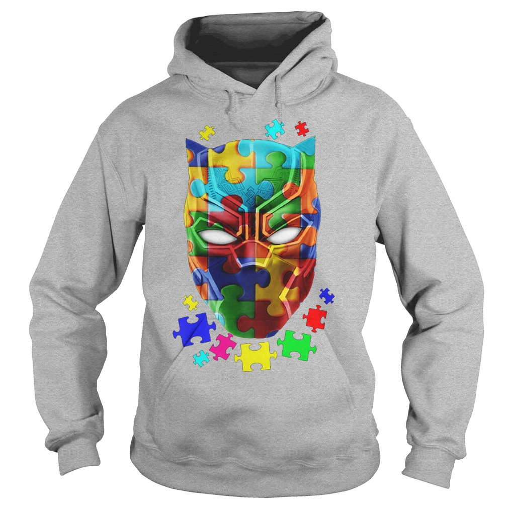 Official Autism Awareness Black Panther Hoodie