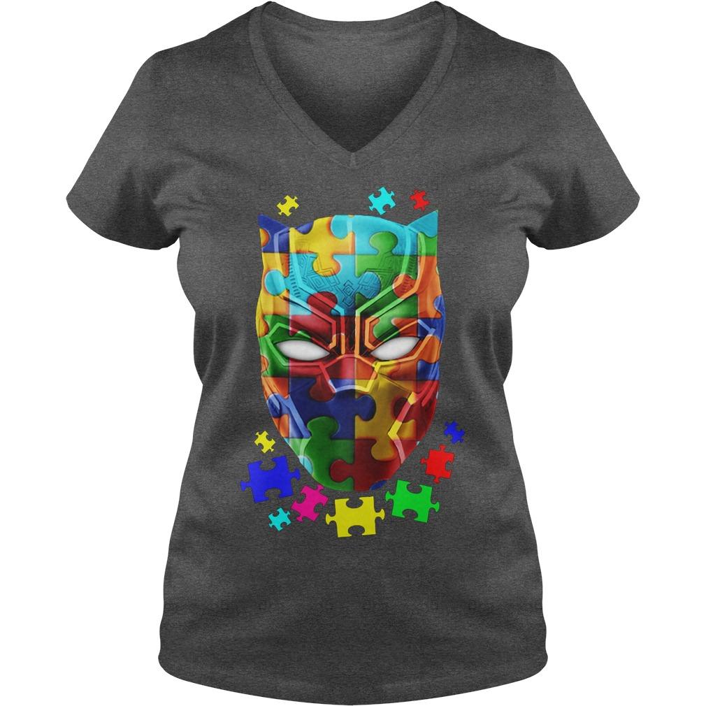 Official Autism Awareness Black Panther V Neck