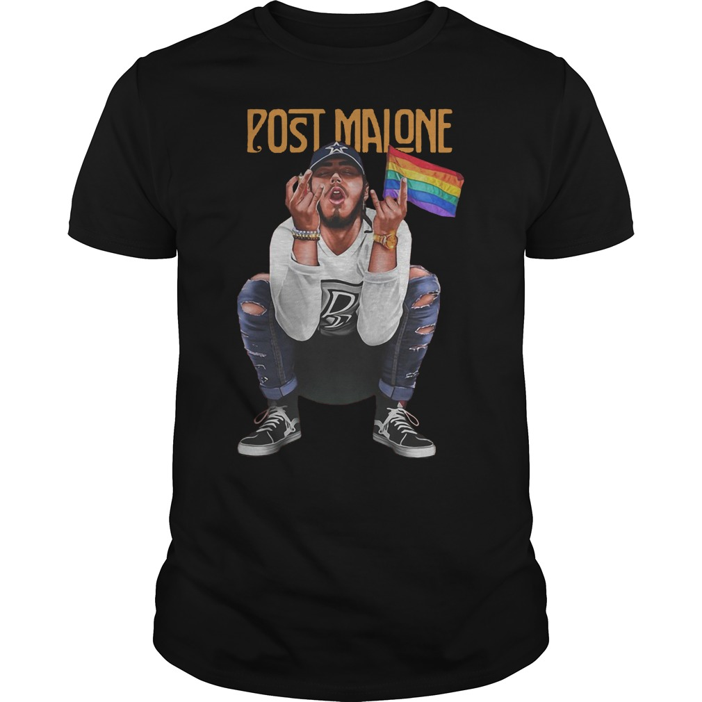 Post Malone American Rapper And Lgbt Flag Shirt