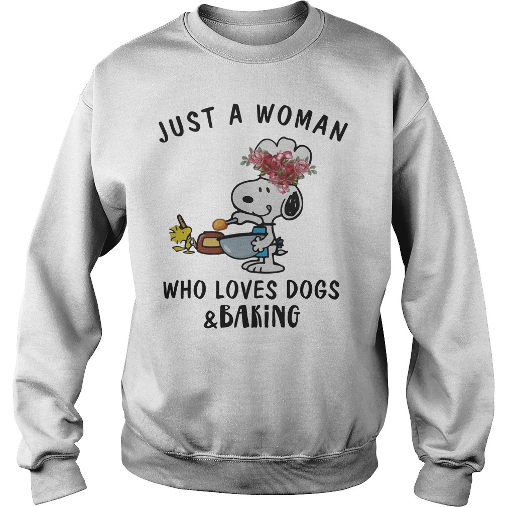 Snoopy Just A Woman Who Loves Dogs And Baking Sweater