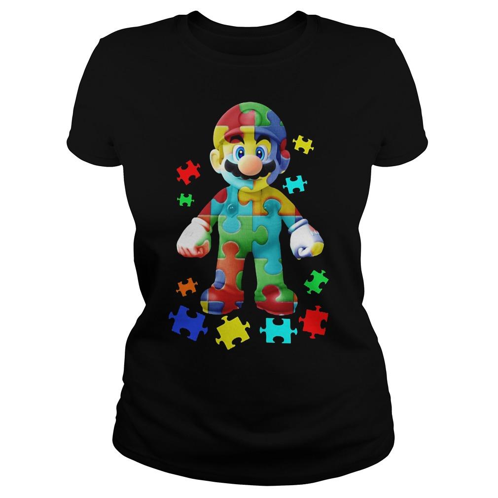 Super Mario Autism Awareness Shirt Ladies