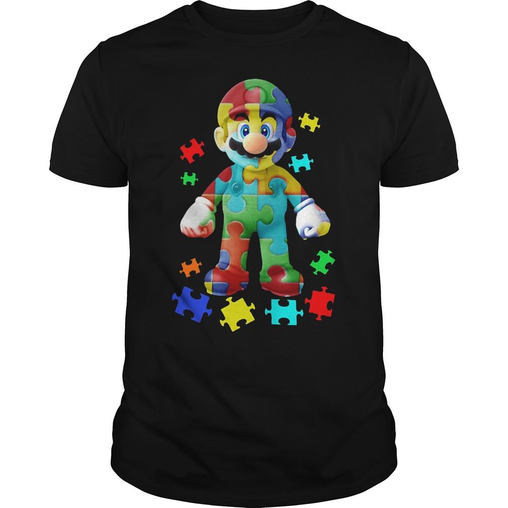 Super Mario Autism Awareness Shirt