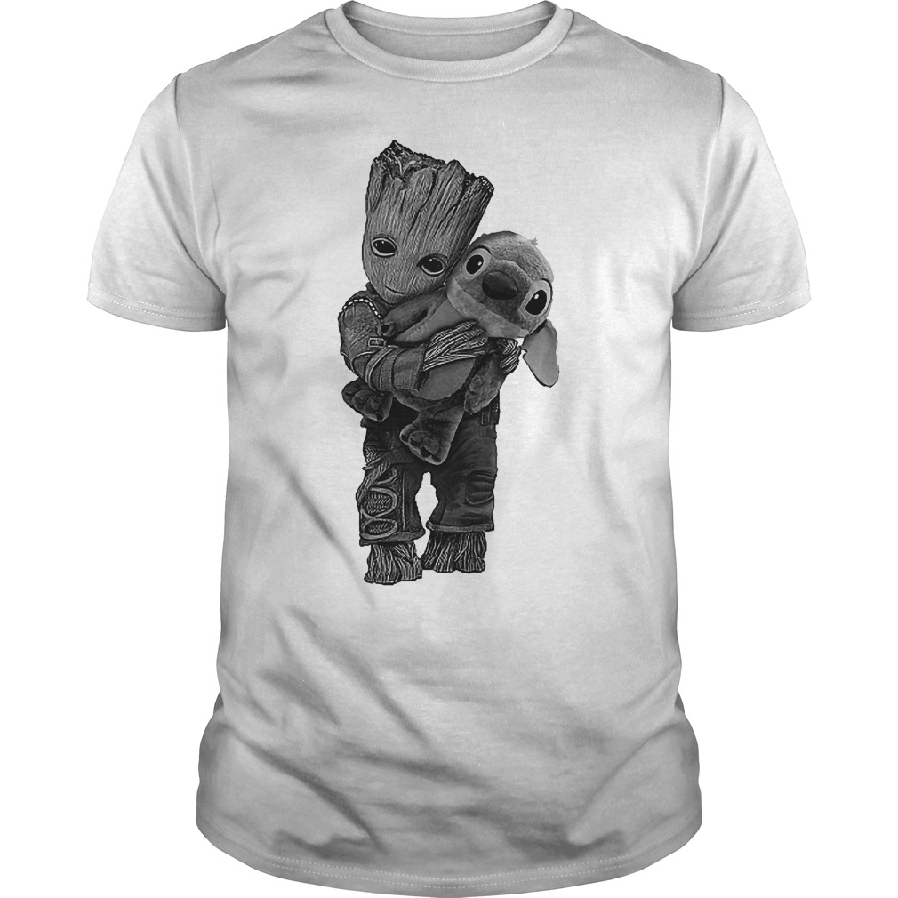 Baby Groot Hug Stitch Shirt