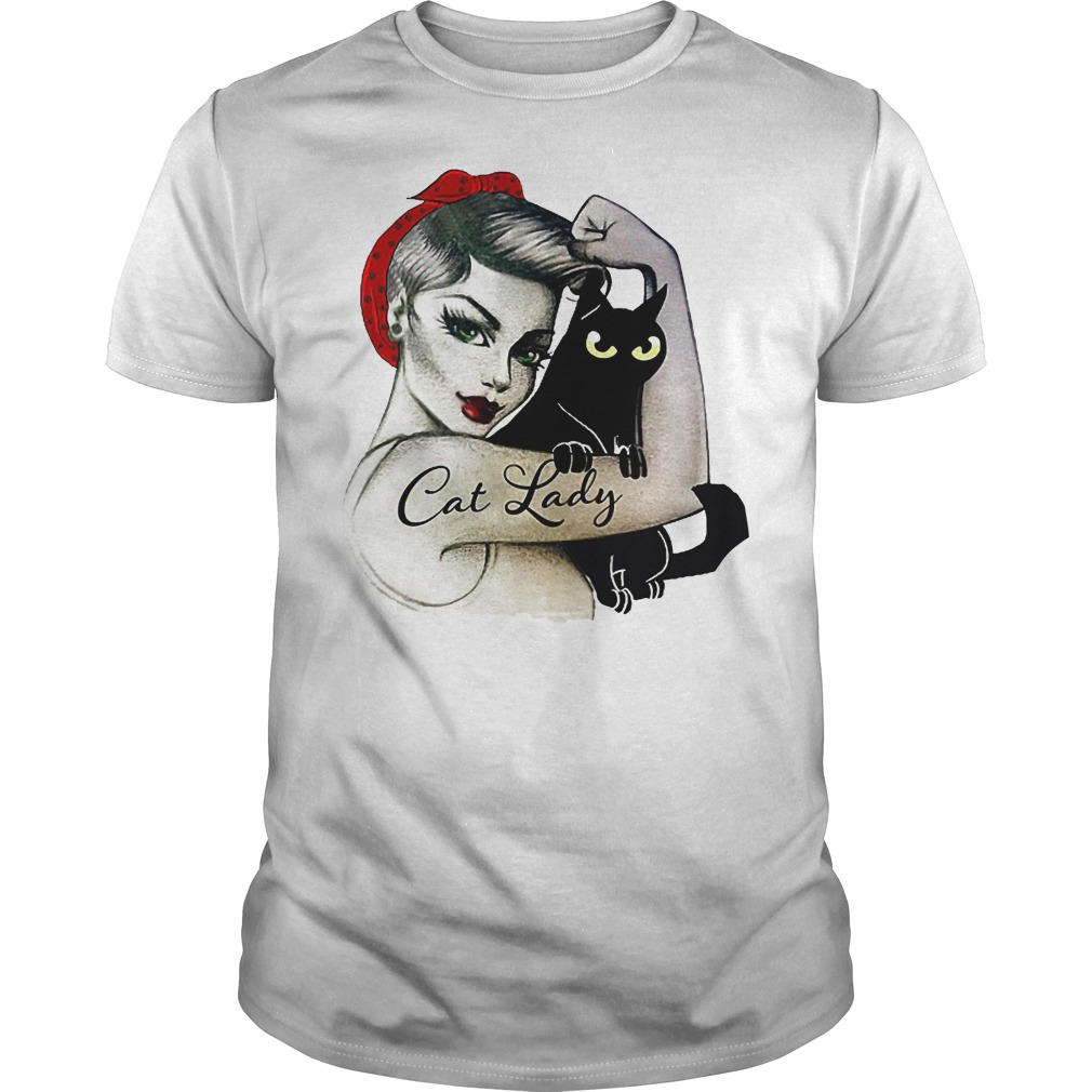 Black Cat And Lady Shirt