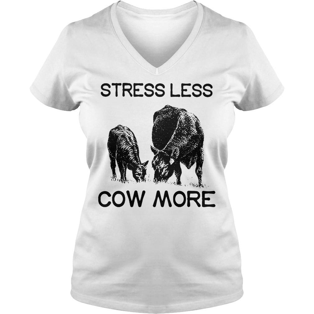 Farmer Stress Less Cow More V Neck